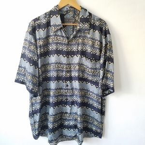 Vtg David Taylor Silk Button Down Shirt Top Large
